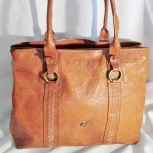 MASTRO SELLAIO Leather Handbag Satchel Hobo Tote